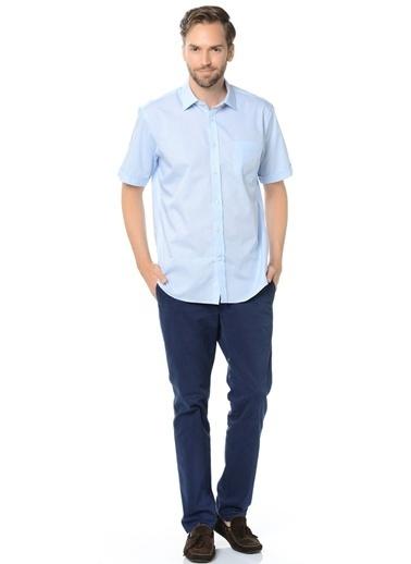 Cotton Bar Kısa Kollu Gömlek Mavi